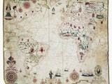 17th Century Nautical Map of the Atlantic Fotografisk tryk af Library of Congress