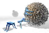 Nanorobots Killing Cancer Cell Reproduction photographique par Christian Darkin