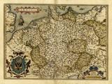 Ortelius's Karte von Deutschland, 1570 Fotografie-Druck von Library of Congress