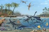 Jurassic Landscape, Artwork Fotografie-Druck von Richard Bizley