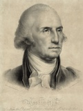 George Washington, First US President Fotografisk trykk av Library of Congress