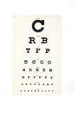 Eyesight Test Chart Fotografisk trykk av Gregory Davies