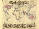 British Empire World Map, 19th Century Fotografisk trykk av Library of Congress