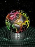 Earth's Gravity Well, Artwork Fotografie-Druck von Tony Craddock