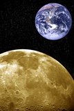 Moon And Earth, Artwork Reproduction photographique par Victor De Schwanberg