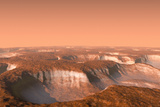 Carbon Dioxide Ice on Mars, Artwork Fotografie-Druck von Chris Butler