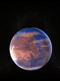 Water on a Prehistoric Mars Fotografie-Druck von Christian Darkin