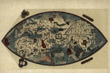 Genoese World Map, 1450 Fotografisk tryk af Library of Congress