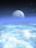 Moon From Earth, Artwork Photographic Print by Victor Habbick