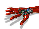 Robotic Hand Photographic Print by Victor Habbick