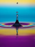 Wassertropfen Fotografie-Druck von Adam Hart-Davis