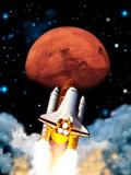 Mars Exploration Fotografie-Druck von Victor Habbick