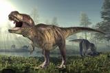 Tyrannosaurus Rex Dinosaur Lámina fotográfica por Roger Harris