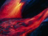 Lava Flow Fotografisk trykk av Brad Lewis