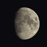 Waxing Gibbous Moon Fotografie-Druck von Eckhard Slawik