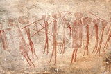 Cave Painting: Kondusi Stick Dance, Tanzania Fotografisk tryk af Sinclair Stammers
