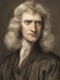 1689 Sir Isaac Newton Portrait Young Lámina fotográfica prémium por Paul Stewart