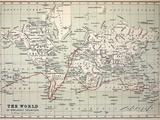 Map Darwin's Beagle Voyage South America Photographic Print by Paul Stewart