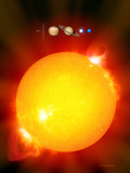 Sun And Its Planets Fotografie-Druck von Detlev Van Ravenswaay
