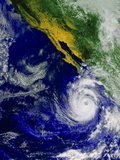 Satellite Image of Hurricane Nora Over the Pacific Photographic Print