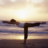 Yoga Pose Photographic Print by Tony McConnell