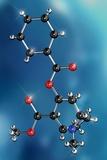 Cocaine Drug Molecule Reproduction photographique par Miriam Maslo
