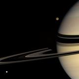 Saturn, Cassini Image Premium-Fotodruck
