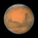 Mars Close Approach 2007, HST Image Premium-Fotodruck