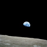 Earthrise Over Moon, Apollo 8 Premium fotografisk trykk