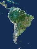 South America, Satellite Image Fotografisk tryk af  PLANETOBSERVER