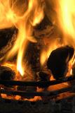 Coal Fire Fotografisk tryk af Duncan Shaw