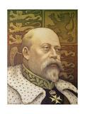 King Edward Vii Giclee Print by Paul Berthon