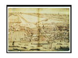 A Bird's Eye View of Whitehall Palace, C.1695 Giclee Print by Leonard Knyff