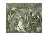 The Knight's Farewell, 1858 Reproduction procédé giclée par Edward Burne-Jones