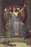 Circe Offering the Cup to Ulysses, 1891 Giclée-tryk af John William Waterhouse