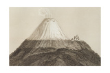 T.1594 Cotopaxi, Drawn by Stock from a Sketch by Humboldt, Engraved by Edmond Lebel (1834-1908)… Giclee-trykk av Friedrich Alexander, Baron Von Humboldt
