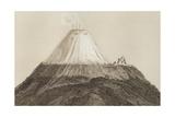 T.1594 Cotopaxi, Drawn by Stock from a Sketch by Humboldt, Engraved by Edmond Lebel (1834-1908)… Giclée-Druck von Friedrich Alexander, Baron Von Humboldt