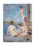 The Bathers, 1889 Giclée-tryk af Henry Scott Tuke
