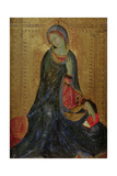 Virgin Annunciate, Right Hand Panel of Diptych, 1340-44 Giclée-tryk af Simone Martini