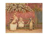 The Garden Seat Giclee-trykk av Kate Greenaway