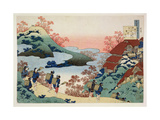 Saramaru Dayu, from the Series '100 Poems by 100 Poets Explained by a Nurse', C.1835 Giclee-trykk av Katsushika Hokusai
