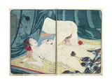 A 'Shunga' (Erotic) Print: 'All Passion Spent - the Satisfied Woman', C.1855 Impressão giclée por Kuniyoshi Utagawa