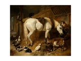 The Midday Meal, 1850 Giclée-tryk af John Frederick Herring I