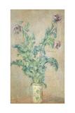 Violette Mohnblüten Giclée-Druck von Claude Monet
