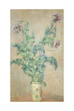 Purple Poppies Giclee Print by Claude Monet