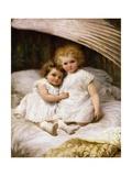 Beneath an Angel's Wing Giclée-tryk af William Strutt
