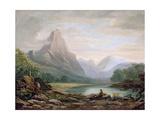 A Welsh Valley, 1819 Giclée-Druck von John Varley