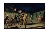 Don Quixote and Sancho Panza Riding Clavileno Giclée-Druck von Zacarias Gonzalez Velazquez
