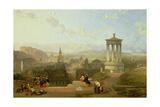 Edinburgh from the Calton Hill View Looking West, 1863 Giclée-Druck von David Roberts