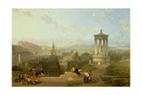 Edinburgh from the Calton Hill View Looking West, 1863 Giclee Print by David Roberts
